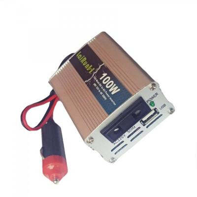 Invertor Auto 12V la 220V 100W cu USB si Cablu Priza Auto Lairun