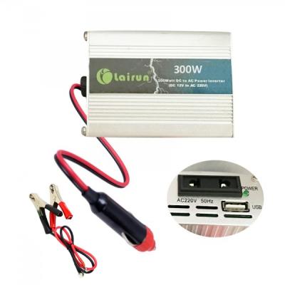 Invertor Auto 12V la 220V cu USB 300W Constant Max.275W Clesti si Priza Auto