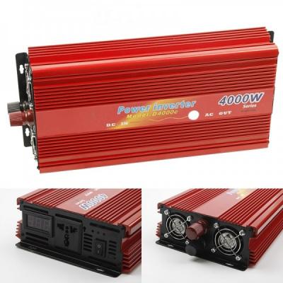 Invertor Auto 24V la 220V 4000W Constant Max.2600W Cabluri fara Clesti