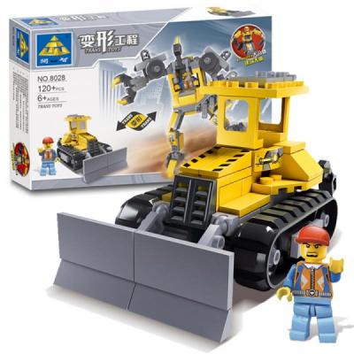 Joc Tip Lego Set Constructie Robot Buldozer Transformer Kazi 8028