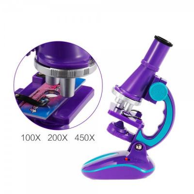 Jucarie Educativa Copii Microscop Iluminat pe Baterii C2127