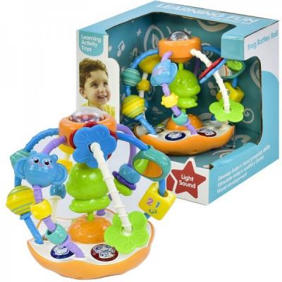 Jucarie Interactiva Zornaitoare Bebe Frog Rattles Ball 35751