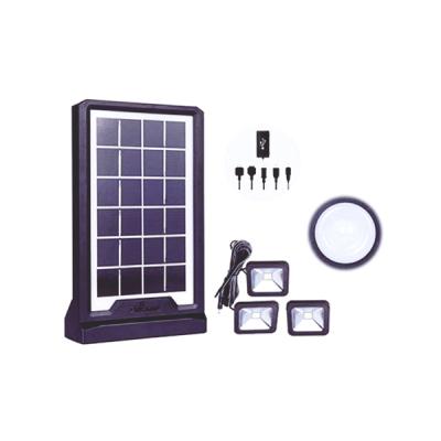 Kit Solar cu Lanterna LED, 3 Becuri si Slot USB GSM CL06A