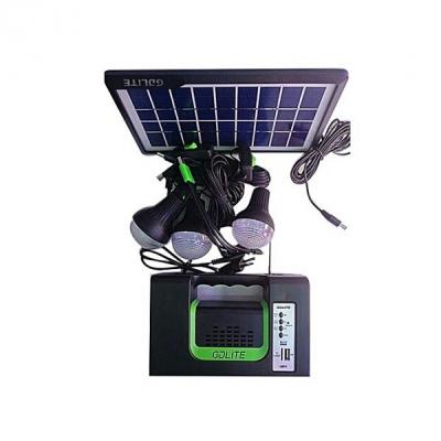 Kit Solar Lanterna LED cu Radio FM USB MP3 3 Becuri 6V GDLITE 10