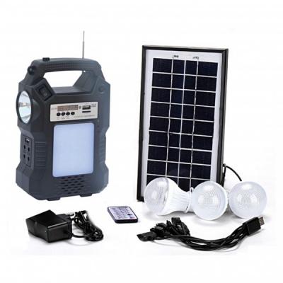 Kit Solar Lanterna LED cu Radio FM USB SD 3 Becuri 4V GDPLUS GD8060
