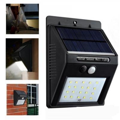 Lampa 20LED Incarcare Solara cu Senzor de Miscare  si Lumina, On/Off