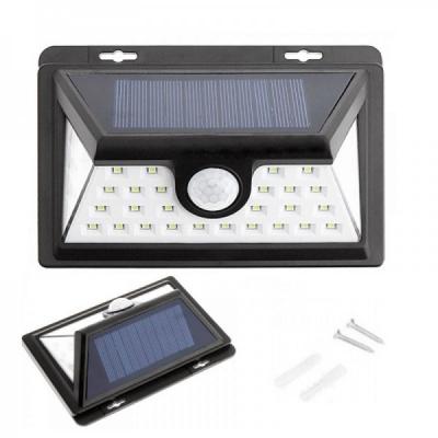 Lampa 36 LED Incarcare Solara cu Senzor de Lumina On/Off