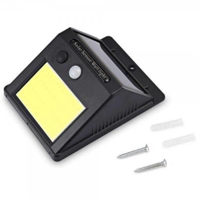 Lampa 48COB LED Incarcare Solara cu Senzor Miscare si Lumina, On/Off