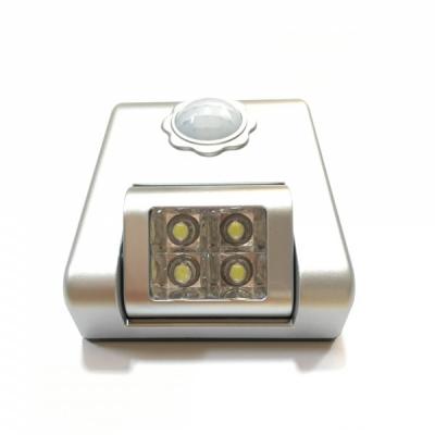 Lampa de Veghe cu 4 LED Senzor Miscare si Lumina, pe Baterii