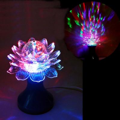 Lampa Disco Rotativa Veioza Floare Lotus Multicolora 20W 220V