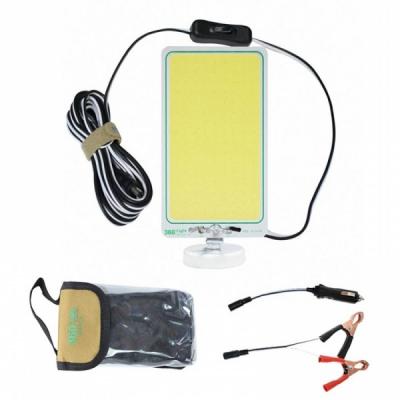 Lampa Lucru Panou COB LED Baza Magnetica 12V Cabluri Clesti 360 Light
