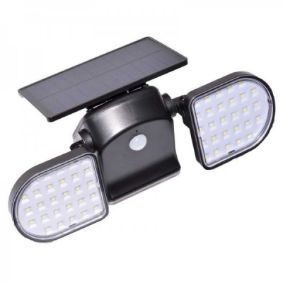 Lampa Solara Dubla 2x28 LED Senzori Lumina Miscare JC131