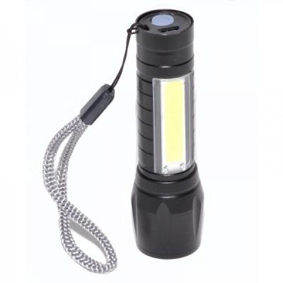 Lanterna LED 5W XPE+COB Acumulator 14500 USB Zoom LAN1X5WXPE