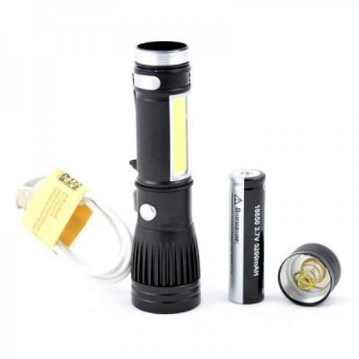 Lanterna de Mana LED XLT6+COB LED Acumulator 18650 USB EC41957