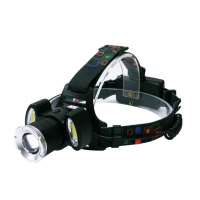 Lanterna Frontala LED+2COB 5W, Zoom, Acumulatori 12V 220V BLC865T6