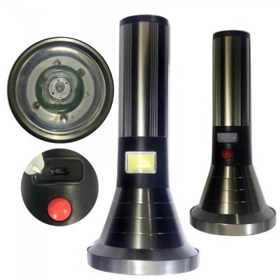 Lanterna LED 10W si COB LED 5W cu Acumulator Incarcare USB TDPlus T78