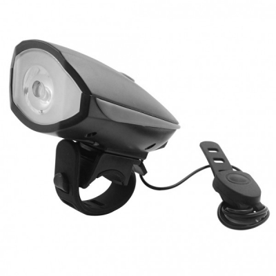 Lanterna LED 1W Far pentru Bicicleta cu Sonerie si Baterii FY056