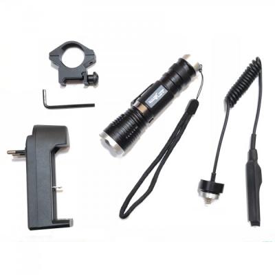 Lanterna LED 3W 1 Faza Buton pe Fir Zoom Prindere Arma 220V BLQ1835T6