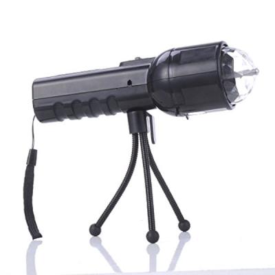 Lanterna LED 3W cu Functie Lumini Disco RGB 3W si Tripod W510