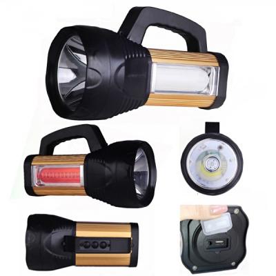 Lanterna Profesionala LED 10W, Panouri LED, USB si Acumulator 4V ATX8