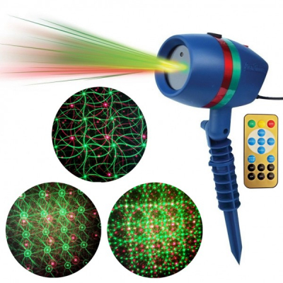 Laser Gradina tip Star Shower Rosu Verde cu Telecomanda LZ28023