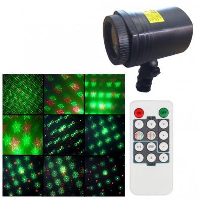 Laser Gradina tip Star Shower, Rosu Verde Telecomanda, Timer WL502B