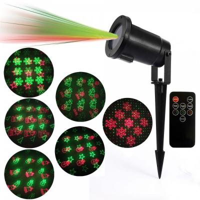 Laser Proiector Figurine Craciun Rosu Verde Senzor, Telecomanda LZ9607