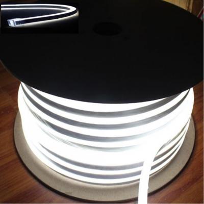 Neon Flex Furtun Luminos Flexibil Rola 100m Alb Rece 2Fete 0.8x1.7cm