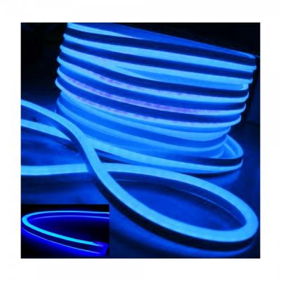 Neon Flex Furtun Luminos Flexibil Rola 100m Albastru 2Fete 0.8x1.7cm