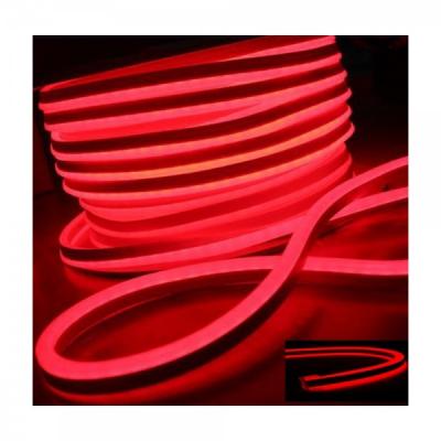 Neon Flex Furtun Luminos Flexibil Rola 100m Rosu 2Fete 0.8x1.7cm