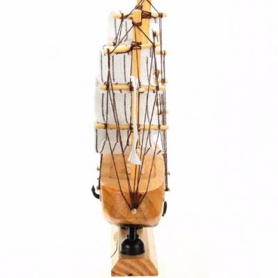 Macheta Barcuta din Lemn cu Panze Decor si Personalizare 12x13x3.5cm