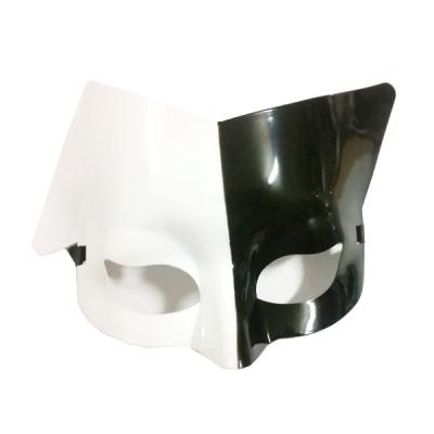 Masca de Halloween si Carnaval Pisica Alb Negru