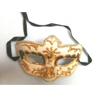 Masca Venetiana cu Model Culoare Aurie