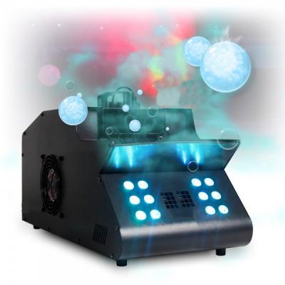 Masina Baloane de Sapun si Fum 12 Led RGB, DMX, Telecomanda 1500W