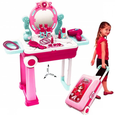 Masuta de Toaleta si Frumusete Fetite Pliabila Tip Troller 008923