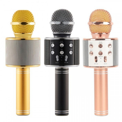 Microfon Wireless Karaoke cu Bluetooth, Boxa, USB si SD Card WS858