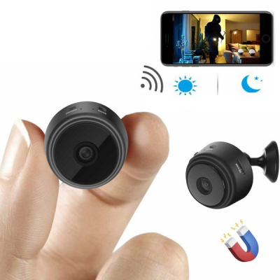 Mini Camera Video Spion cu Microfon WIFI Night-Vision Magnet HIDVCAM