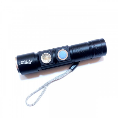 Mini Lanterna LED 3W Compacta, Zoom, UV Incarcare Directa USB BL831