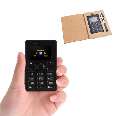 Mini Telefon Mobil M5 Card Phone Ultraslim cu Bluetooth