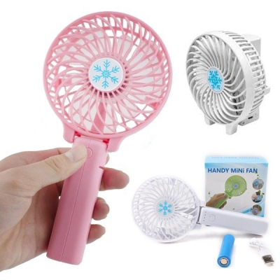 Mini Ventilator Portabil cu Acumulator si Lanterna Handy Mini Fan