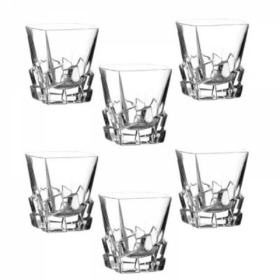 Pahare Cristal de Bohemia Set 6 Pahare Whiskey, Colectia Crack