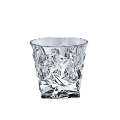 Pahare Cristal de Bohemia Set 6 Pahare Whiskey, Colectia Glacier