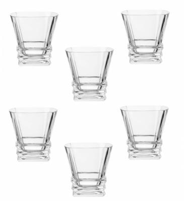 Pahare Cristal de Bohemia Set 6 Pahare Whiskey, Colectia Rocky