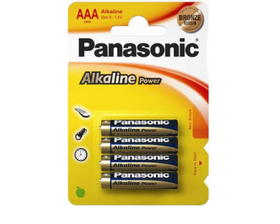 Panasonic baterii lr03 aaa alkaline bronze 4 buc.la blister