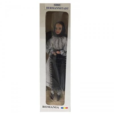 Papusa Folclorica Imbracata in Costum Popular Romanesc Sibiu