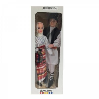 Papusi Folclorice Imbracate in Costume Traditionale Romanesti Dobrogea