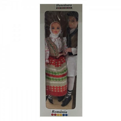 Papusi Folclorice Imbracate in Costume Traditionale Romanesti Hunedoara