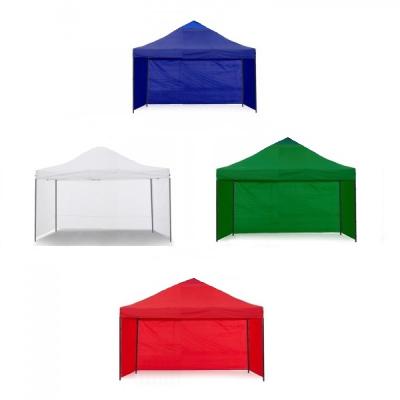 Pavilion Gradina 3x3m cu 3 Pereti Cort Pliabil Sistem Acordeon