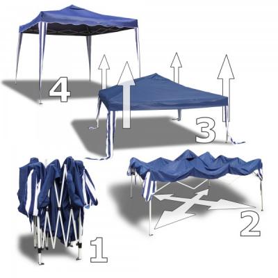 Pavilion Gradina 3x6m Cort Pliabil Sistem Acordeon