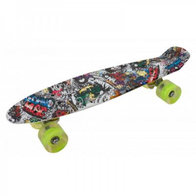 Penny Board cu Roti Silicon 55x15cm SB2406 JU Techno Music